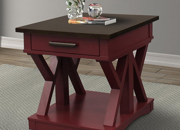 Americana Modern End Table - Cranberry