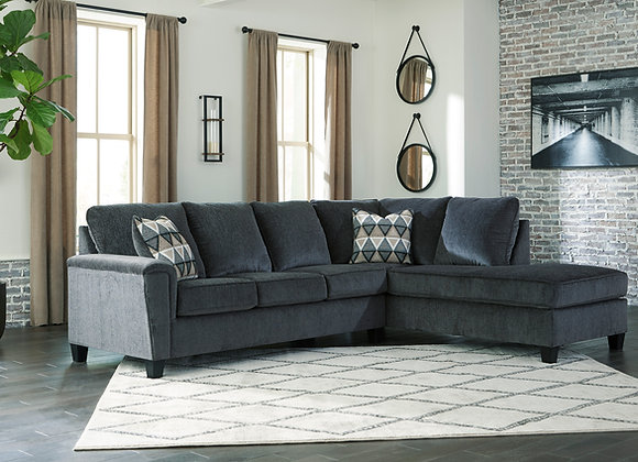 Abinger 2PC Sofa w/ RAF Chaise - Smoke