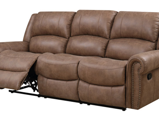 Spencer Reclining Sofa - Brown