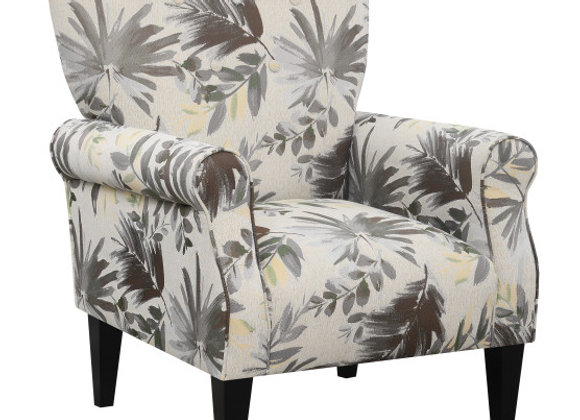 Lydia Accent Chair - Gray Floral
