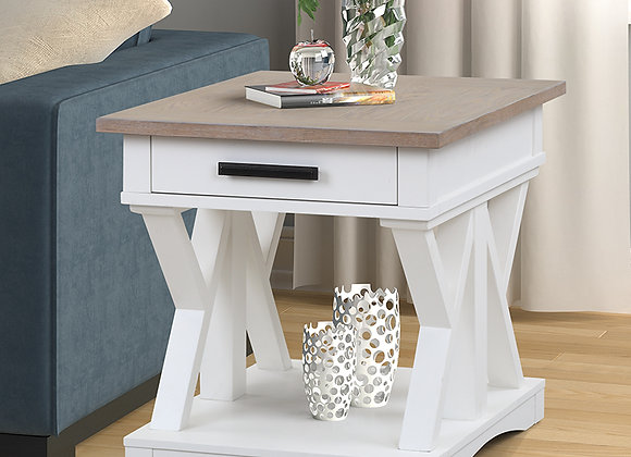 Americana Modern End Table - Cotton