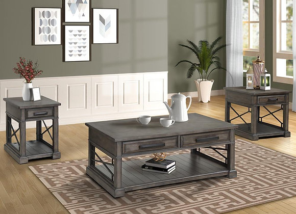 Sundance End Table - Smokey Grey