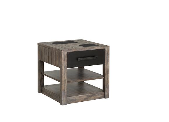 River Rock End Table - Siltstone