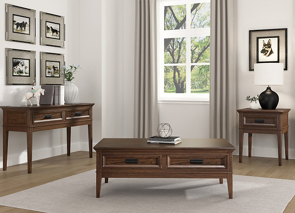 Frazier Park Coffee Table - Cherry Brown