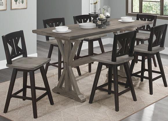 Amsonia 5PC Counter Table Set -Gray
