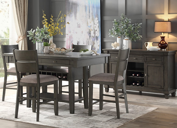 Baresford 5PC Counter Dining Set - Gray