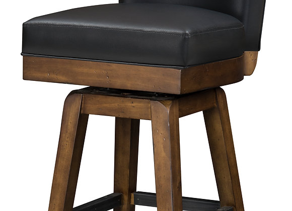 Rustic 30 Inch Backed Barstool - 2 Colors