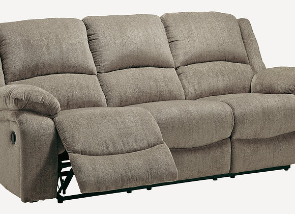Draycoll Reclining Sofa - Platinum