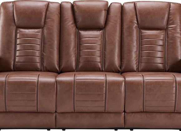 Megatron Power Reclining Sofa w/ Power HDRST - Umber