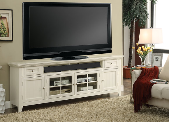 Tidewater 84 Inch TV Console - Vintage White