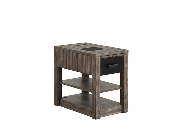 River Rock Chairside Table - Siltstone