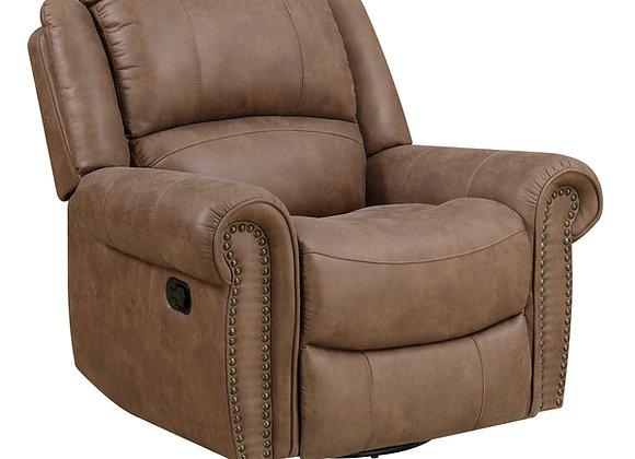 Spencer Swivel Gliding Chair - Brown