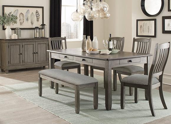 Granby 6PC Dining Set - Gray