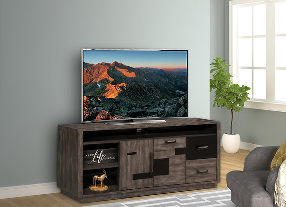 River Rock 76 Inch TV Console - Siltstone