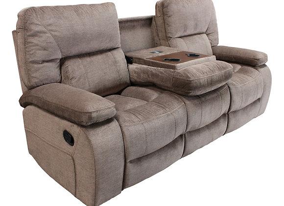 Chapman Reclining Sofa with Drop Down Console - Kona