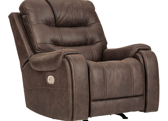 Yacolt Power Recliner w/ HDRST - Walnut