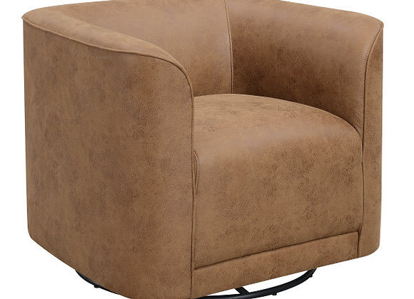 Whirlaway Swivel Accent Chair - Saddle