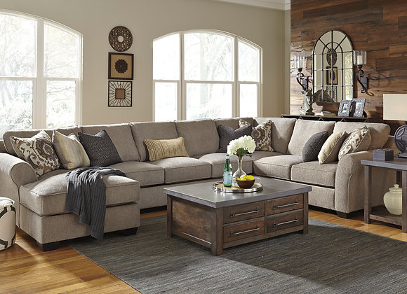 Pantomine 4PC Sectional w/ LAF Chaise - Driftwood