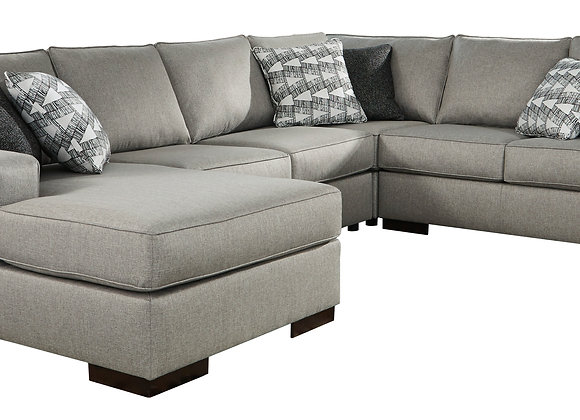 Marsing 4PC Sectional w/ LAF Chaise - Slate