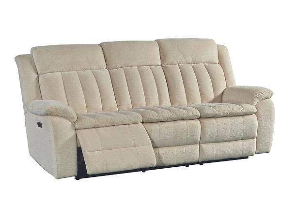 Cuddler Power Reclining Sofa w/ Power HDRST - Laurel Ecru