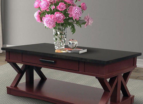 Americana Modern Rectangle Coffee Table - Cranberry
