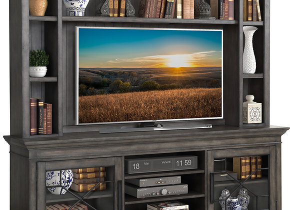 Sundance 92 Inch Console with Hutch - Smokey Gray