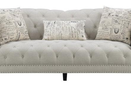 Hutton Tufted Sofa - Linen
