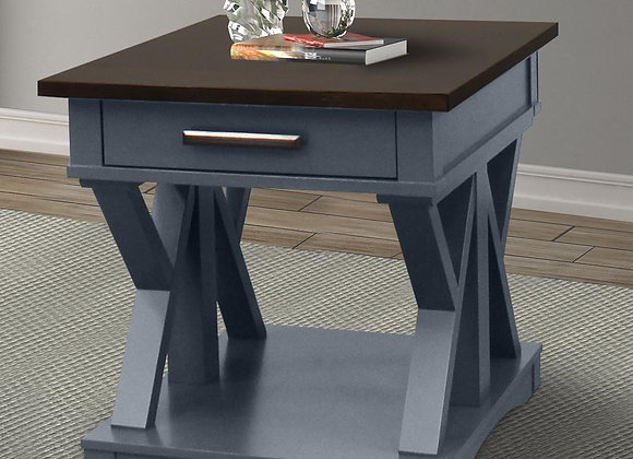Americana Modern End Table - Denim