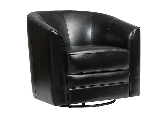Milo Swivel Occasional Chair - Black