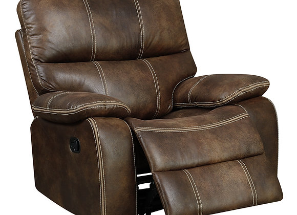 Jessie James Swivel Gliding Chair - Brown