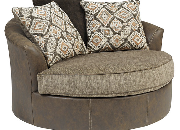 Abalone Swivel Chair - Chocolate