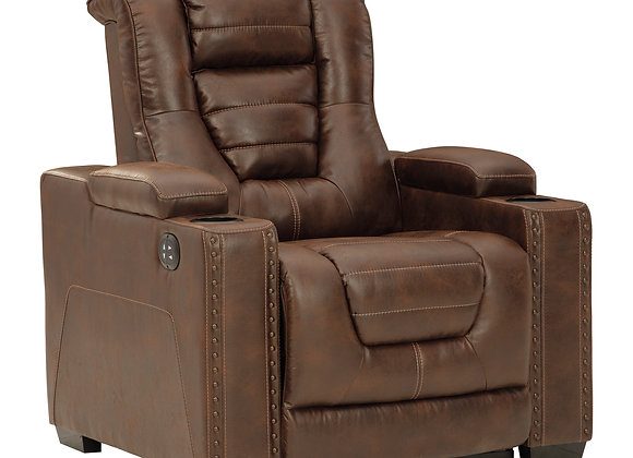 Owner's Box Power Recliner w/ HDRST - Thyme