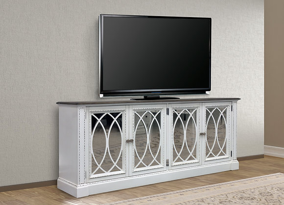Provence 84 Inch TV Console - Vintage Alabaster