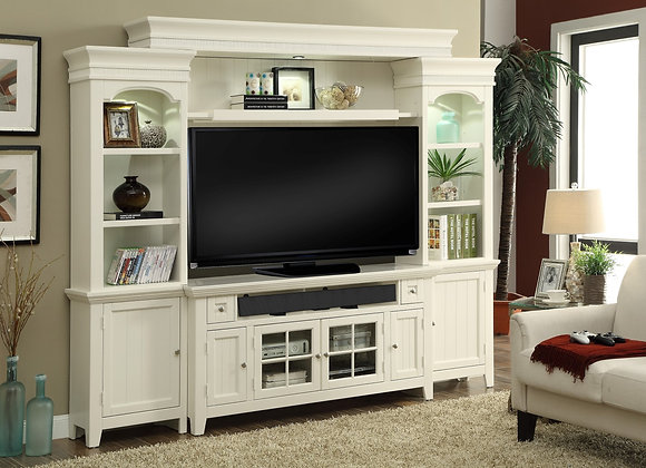 """Tidewater Wall Unit w/ 72"""" Console - Vintage White"""
