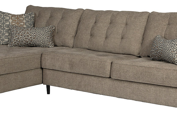 Flint 2PC Sofa w/ LAF Chair - Auburn