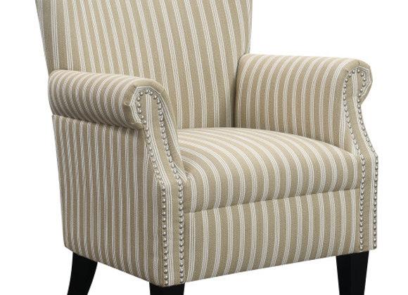 Oscar Accent Ottoman - Brown Stripe