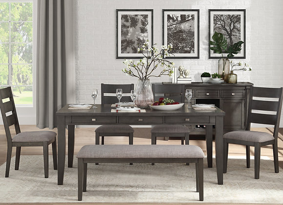 Baresford 6PC Dining Set - Gray