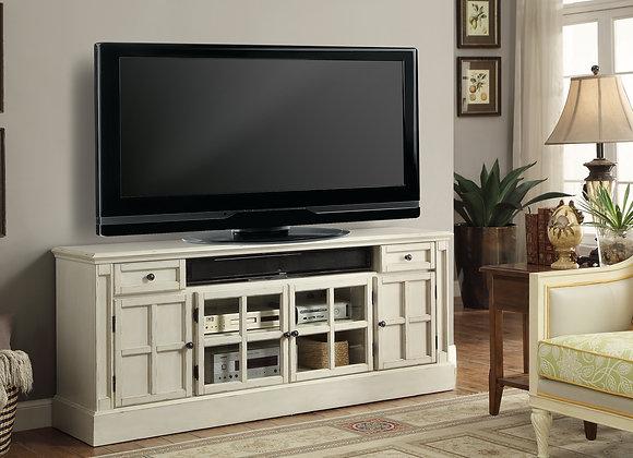 Charlotte 72 Inch TV Console - Antique Vintage White