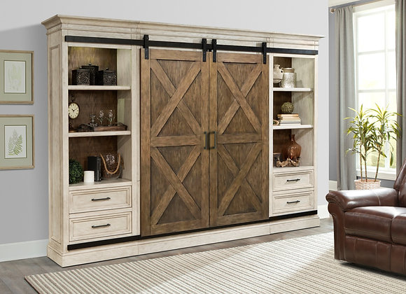 Savannah Sliding Door Wall Unit - Vintage Parchment