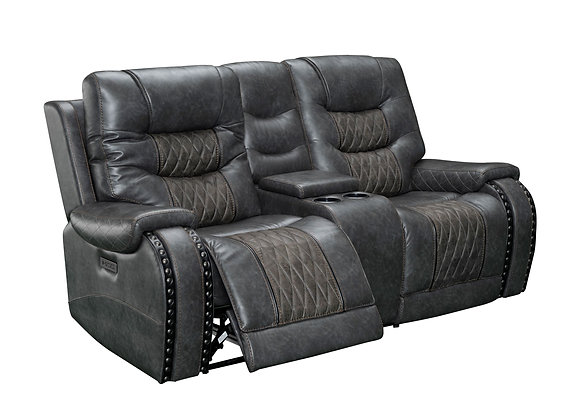 Outlaw Power Reclining Console Love w/ Power HDRST - Stallion