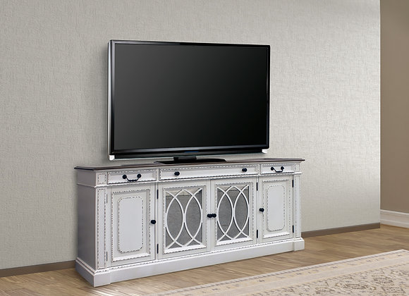 Provence 76 Inch TV Console - Vintage Alabaster