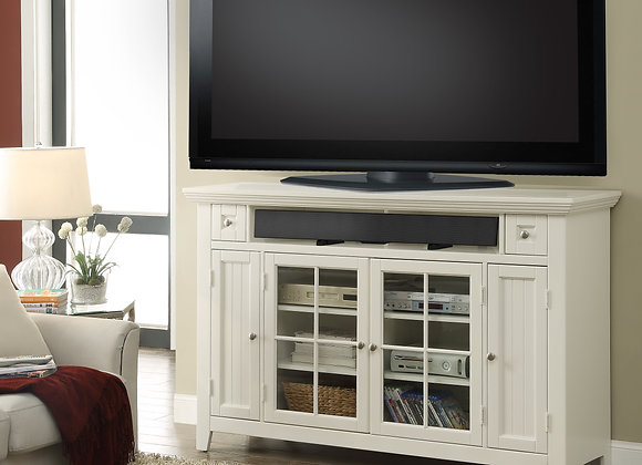 Tidewater 62 Inch TALL TV Console - Vintage White