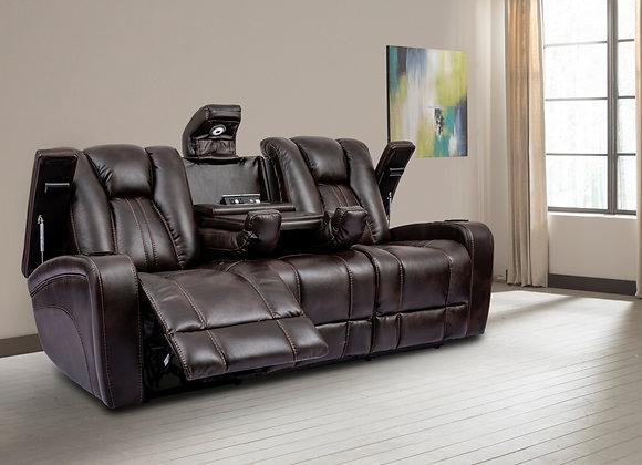 Optimus Theater Seating Sofa - Truffle Performance Fabric