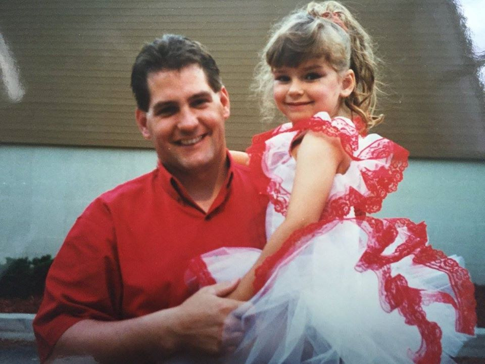 Dance Recital  1996 - big fan of the tutu, dancing, having people watch me on stage, and my dad's shoulder.