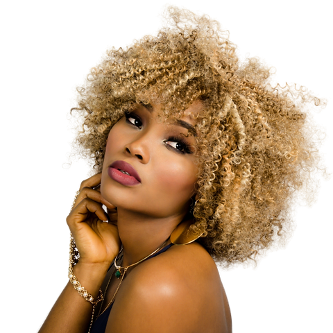 Afro Beautiful Curly Raw Indian Hair