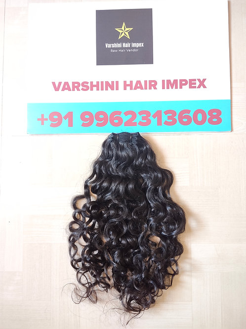 100% South Indian Raw Virgin Curly Hair Bundles | 100 Gram |