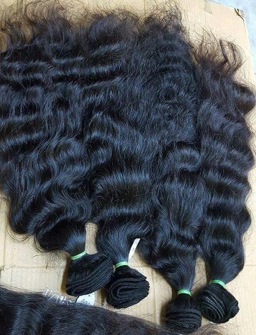 Raw Indian temple hair Bundles