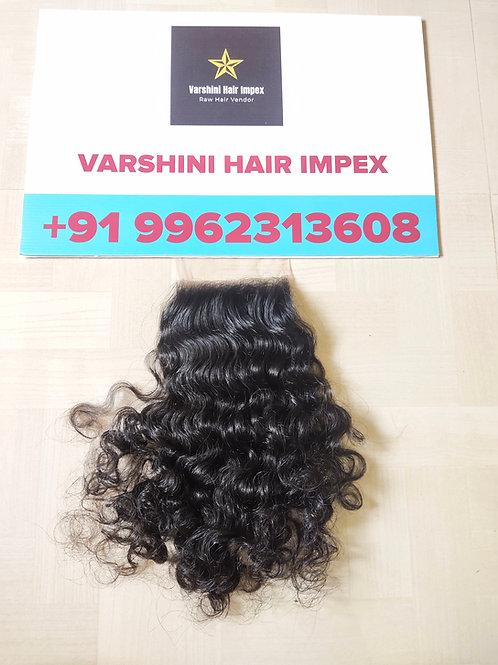 "4""x4"" Closure Raw Indian Curly Hair"