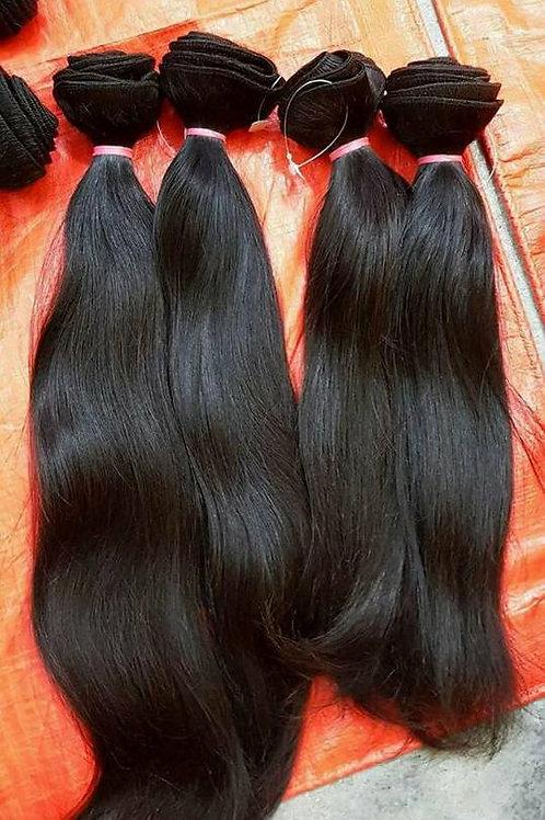 100% Raw Virgin Straight Hair Bundles | 100 Gram |