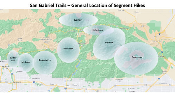 San Gabriel Trails - General Segment Loc
